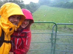 Rasmus and I, enjoying the summer Irish rain, Cork. June 2014.
