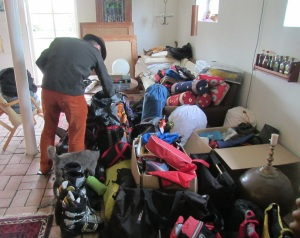 Sorting our lives and choosing what to bring was not an easy challenge